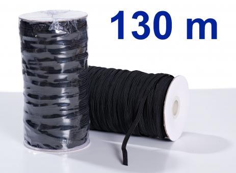 Gummiband 5mm Flachgummi schwarz 130m